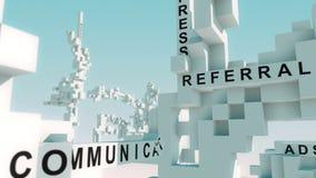 La publicidad de Internet redacta animado con los cubos libre illustration