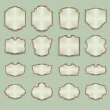 La publicidad del Web artesona los letreros, marcos de madera libre illustration