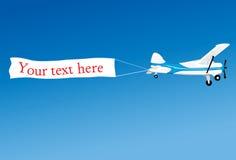 La publicité aérienne illustration libre de droits