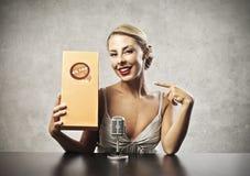 La publicité blonde Image stock
