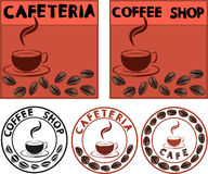 La publicité de café Photo libre de droits
