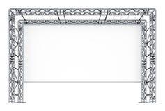 La publicité de la conception des bottes en métal blanc d'isolement par balai Image stock