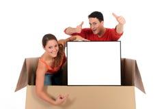 La publicité de couples de cadre de causerie Images stock