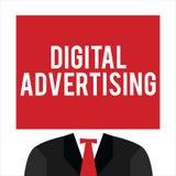 La publicité de Digital des textes d'écriture Le marketing en ligne de signification de concept fournissent la campagne promotion illustration libre de droits