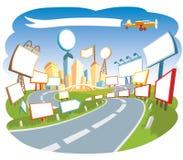 La publicité de la ville 3 Photos libres de droits