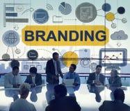 La publicité de marquage à chaud concept commercial de vente de marque déposée Photo libre de droits