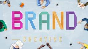 La publicité de marquage à chaud créative de marque concept commercial de vente Photo stock
