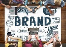 La publicité de marquage à chaud de marque concept commercial de vente Photos stock