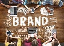 La publicité de marquage à chaud de marque concept commercial de vente Photographie stock