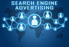 La publicité de moteur de recherche Images stock