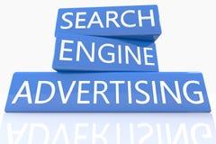 La publicité de moteur de recherche Photos libres de droits