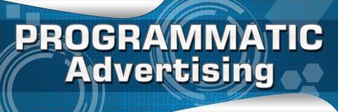 La publicité de Programmtic Photographie stock
