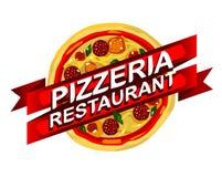 La publicité de restaurant de pizza Photographie stock libre de droits
