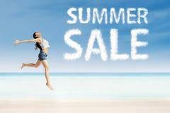 La publicité de vente d'été photographie stock libre de droits