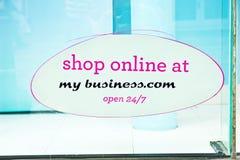 La publicité des affaires en ligne. Photographie stock libre de droits