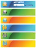La publicité des drapeaux Images stock