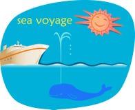 Voyage de mer illustration libre de droits