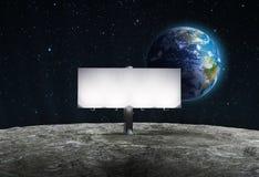 La publicité du panneau-réclame sur la lune illustration libre de droits