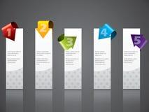 La publicité du positionnement d'étiquette avec les flèches fraîches Images libres de droits