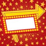 La publicité du signe avec des étoiles Photographie stock libre de droits