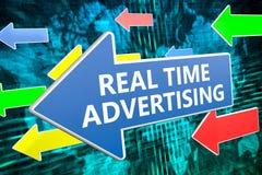 La publicité en temps réel Photographie stock