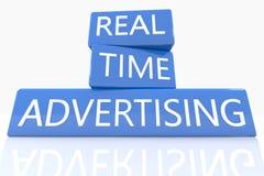 La publicité en temps réel Images stock