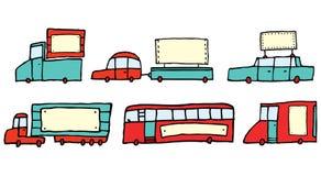 La publicité sur des véhicules illustration stock