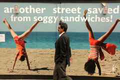 La publicité de rue Photos libres de droits