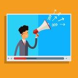 La publicité de Web et concept de Spam Images libres de droits