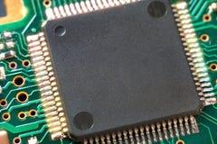 La puce sur le panneau d'unité de disque dur Plan rapproché Photo libre de droits