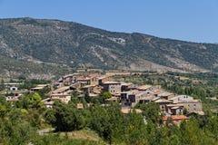 La Puebla de Roda, Huesca Spanien Stockbild