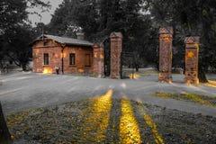 La puerta al parque Imagen de archivo