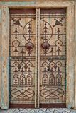 La puerta antigua en estilo árabe Fotografía de archivo