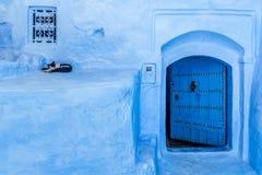 La puerta azul Imagen de archivo