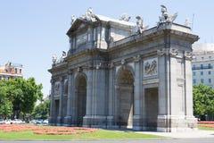 La Puerta de Alcala Stock Photo