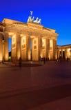 La puerta de Brandenburgo Imágenes de archivo libres de regalías