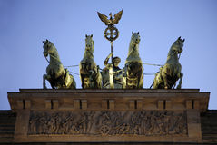 La puerta de Brandenburgo en Berlín Fotos de archivo