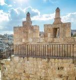 La puerta de Damasco en la ciudad vieja de Jerusalén, Israel fotos de archivo libres de regalías