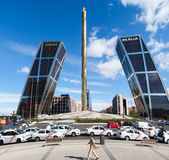 La Puerta de Europa known as Torres KIO Stock Images