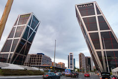 La Puerta de Europa known as Torres KIO Royalty Free Stock Photography