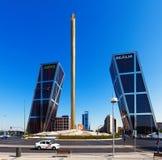 La Puerta de Europa. Madrid, Spain. Royalty Free Stock Photos