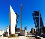 La Puerta de Europa  in Madrid, Spain Royalty Free Stock Image