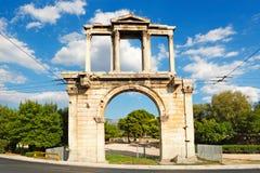 La puerta de Hadrian, Grecia Imagen de archivo libre de regalías