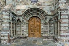 La puerta de la iglesia el sacros di San Micaela, también conocida como S Fotografía de archivo libre de regalías