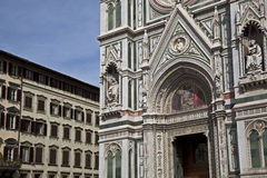 La puerta de la catedral Foto de archivo