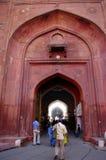 La puerta de la entrada al fuerte rojo, Delhi, la India Fotos de archivo libres de regalías