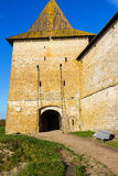 La puerta de la fortaleza Oreshek Shlisselburg Rusia imagenes de archivo