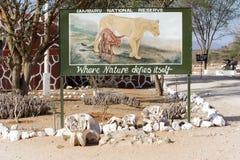La puerta de la reserva nacional de Samburu Foto de archivo libre de regalías