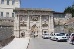 La puerta de la tierra en Zadar, Croacia Imagen de archivo