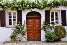 La puerta de madera Foto de archivo